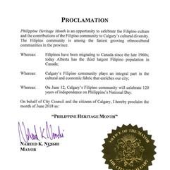 City of Calgary Proclamation