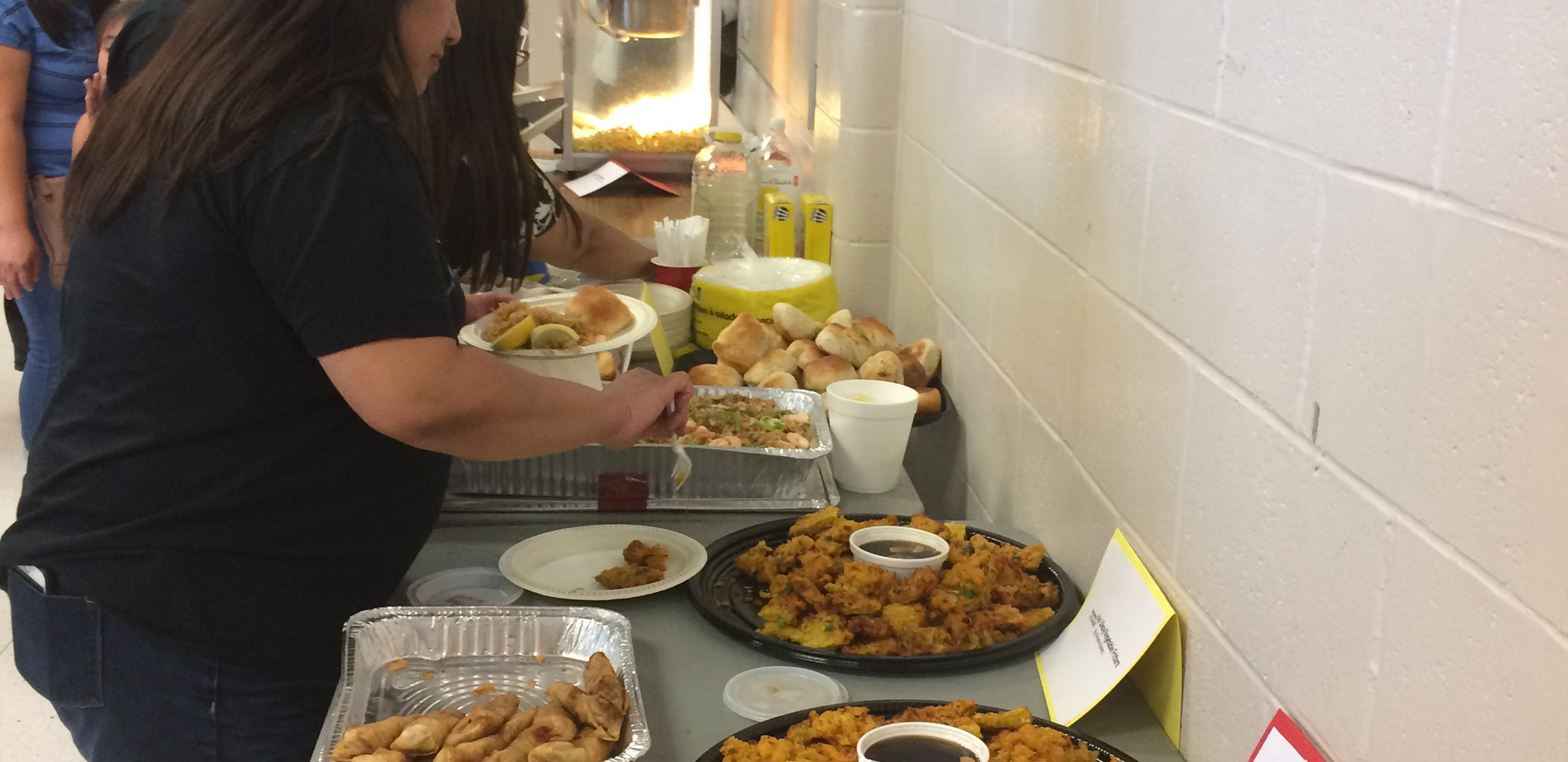 sampling Filipino food