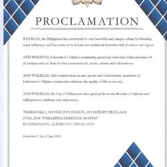City of Edmonton Proclamation