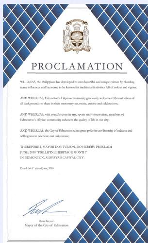 Edmonton Philippine Heritage Month