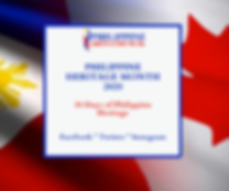 PHILIPPINE HERITAGE MONTH 2020 30 Days o