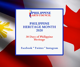 PHILIPPINE HERITAGE MONTH 2020 30 Days o
