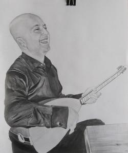 müzisyen karakalem portre