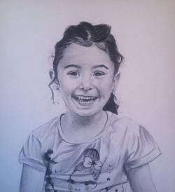 çocuk karakalem portre çizimi