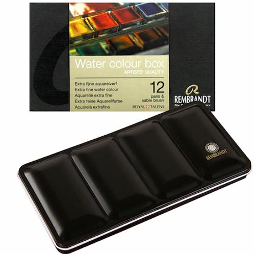 Rembrandt Tablet Sulu Boya Takımı 12 Renk