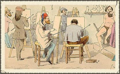 ressamlar atölyede çizim yapıyorlar mimar sinan üniversitesi proesörlerinin çizim yaparlarkenki hali