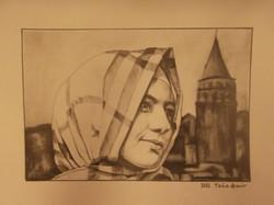 galata karakalem portre