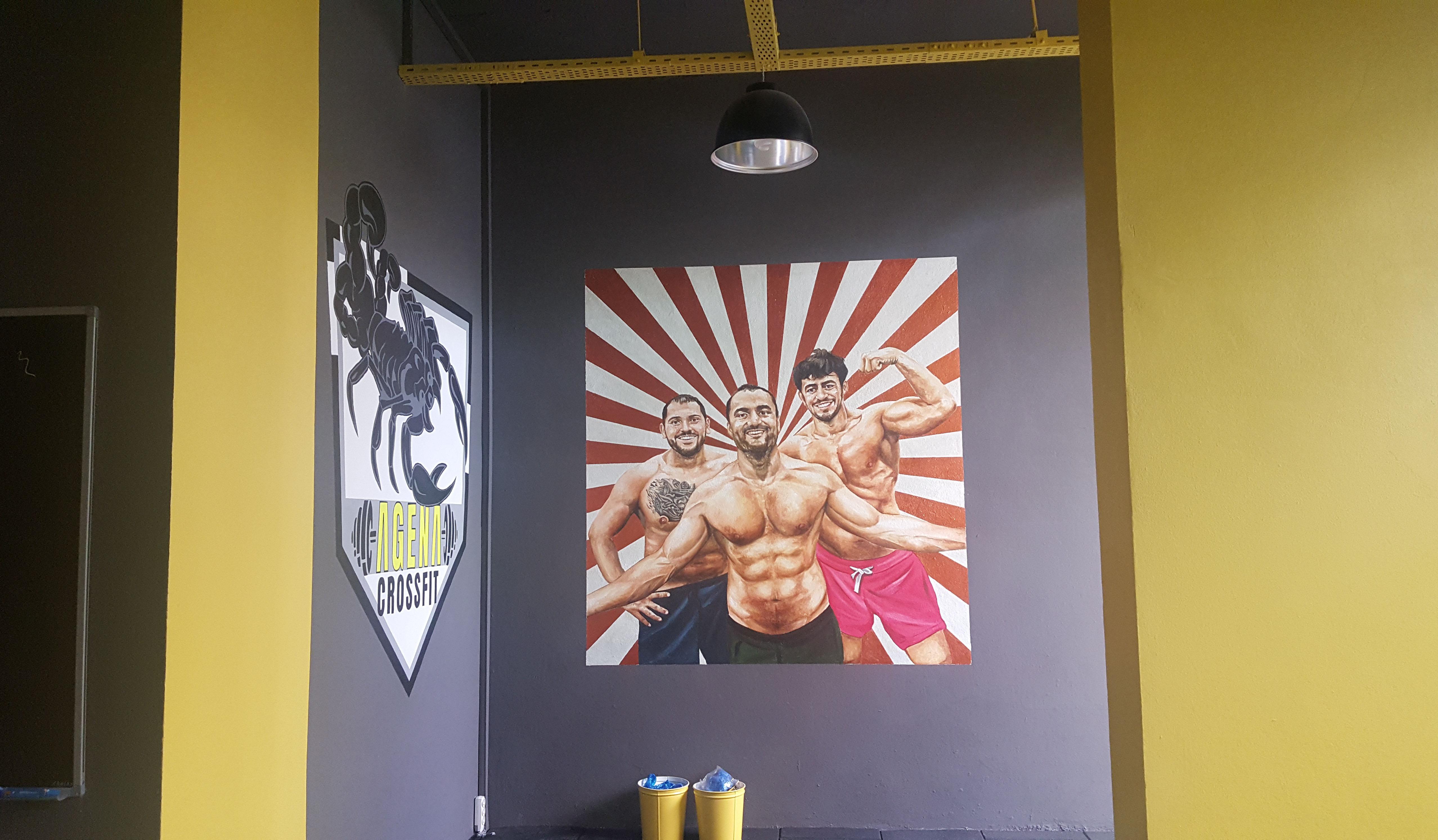 spor salonu duvar resmi