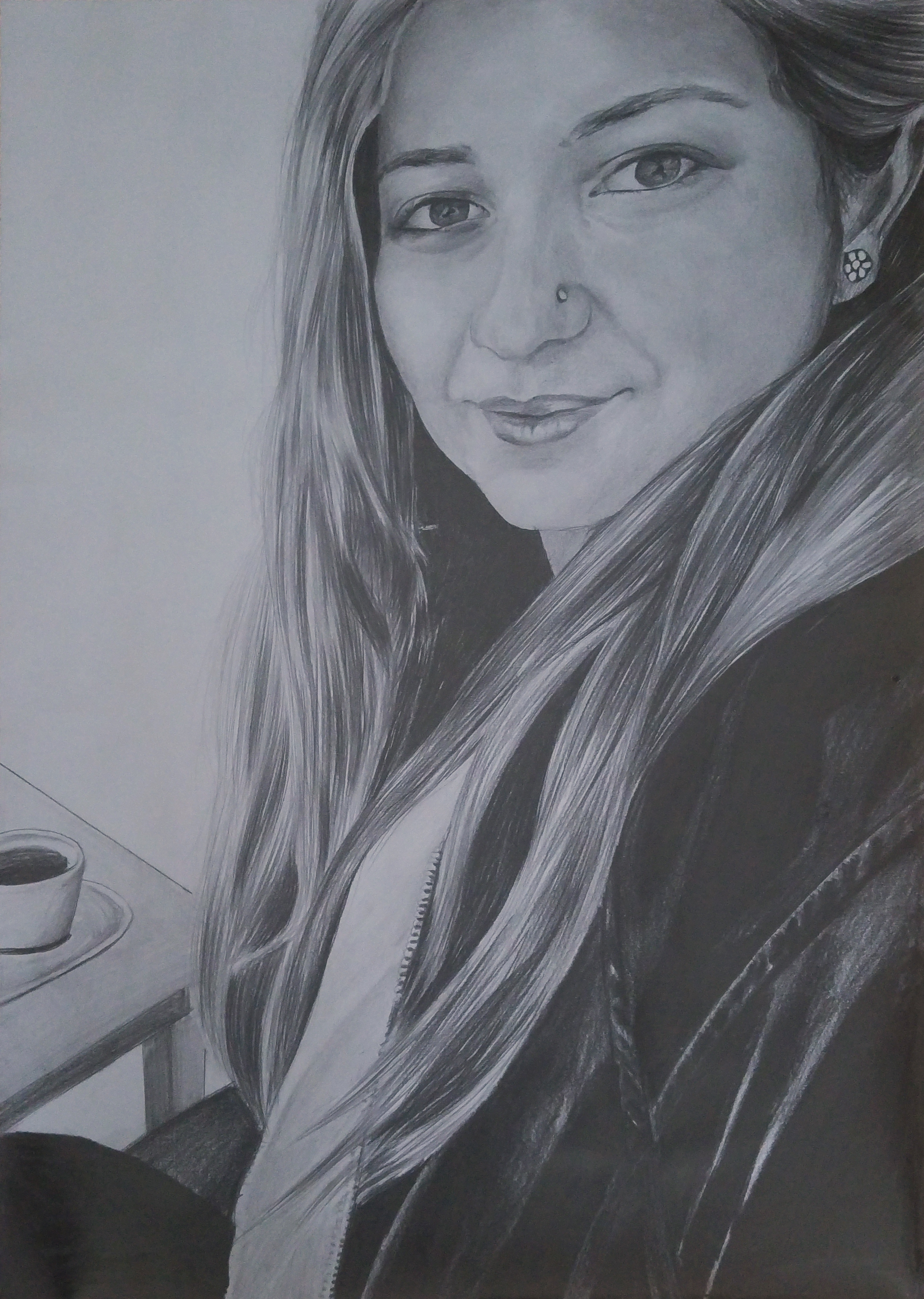 bursa karakalem portre çizimi