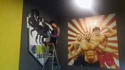 duvar resmi yaparken
