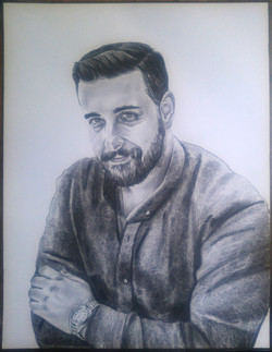 karakalem erkek portre