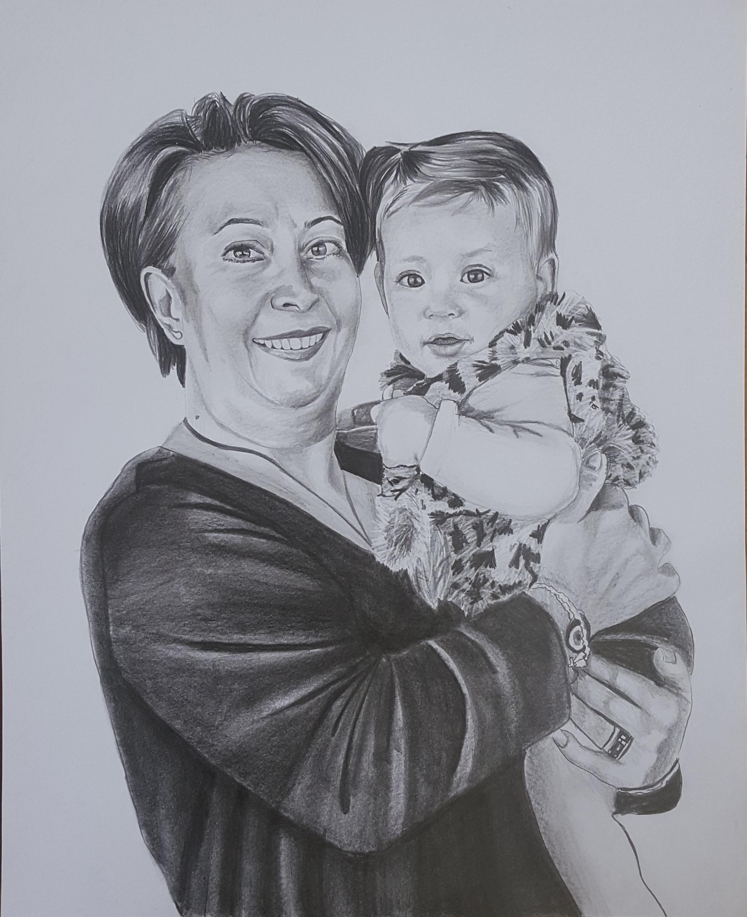 karakalem anneler günü