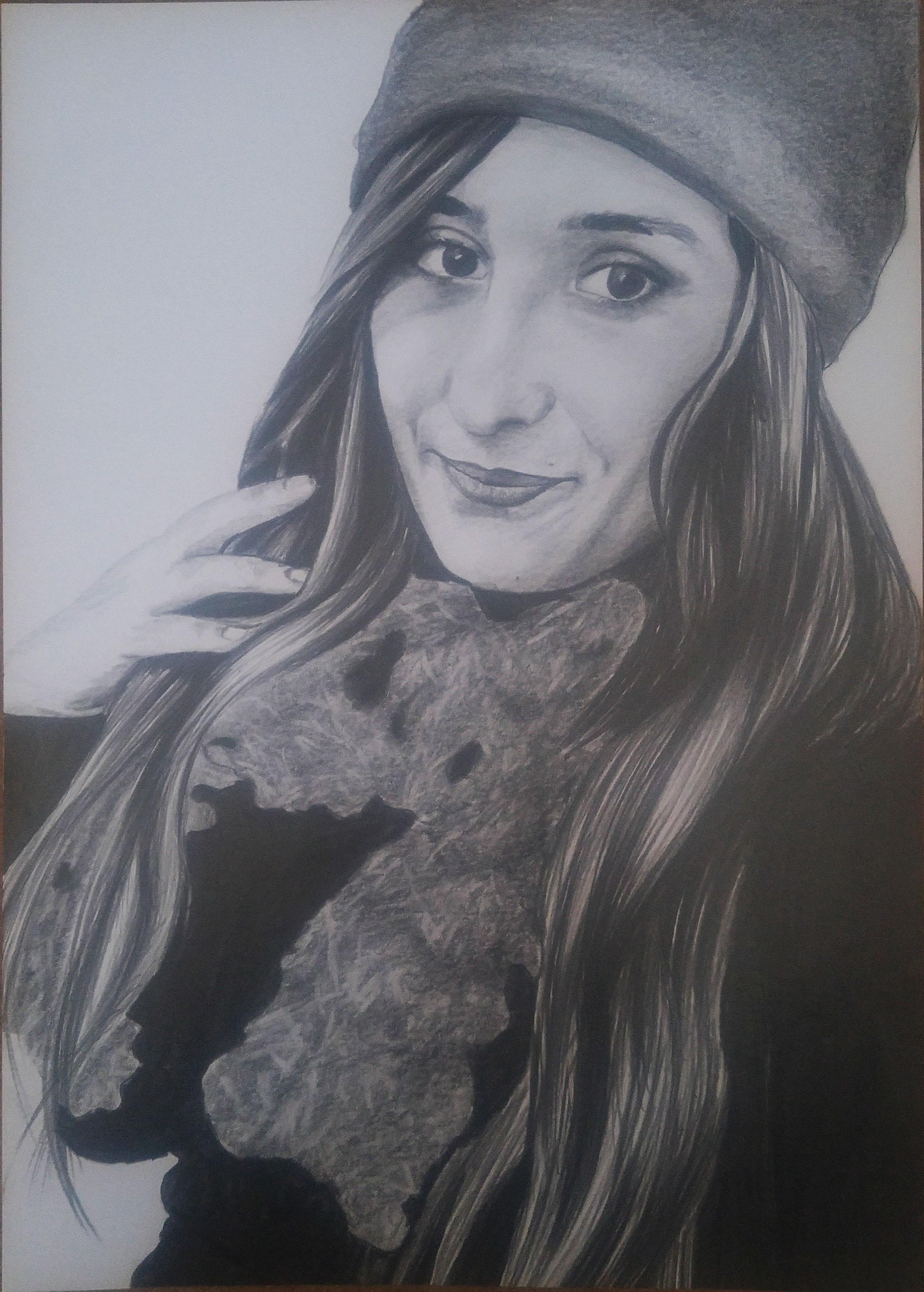 kara kalem portre