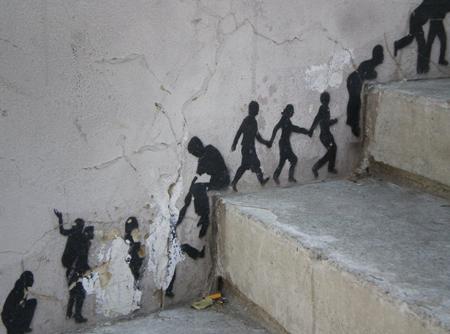 merdiven kenarına resim