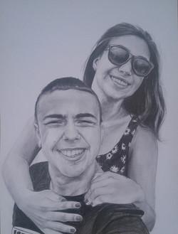 sevgili portre çizimi