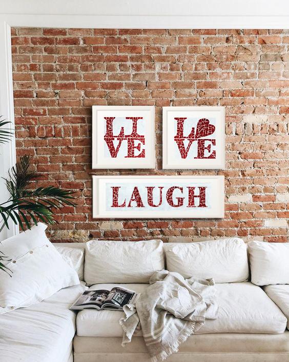 Live&Love&Laugh Yazılı Set - 300 TL