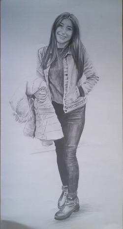 boydan karakalem portre çizimi