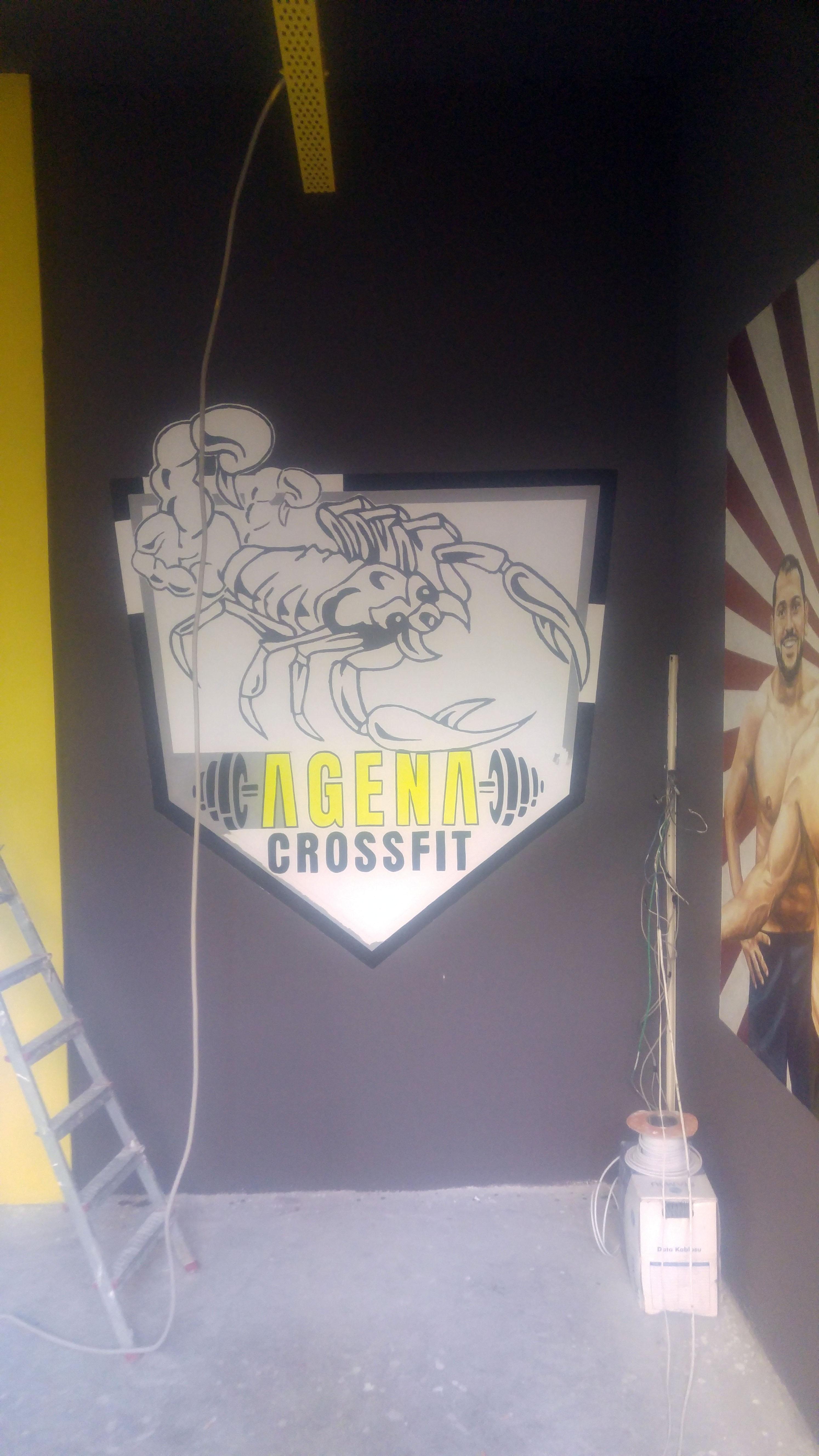 agena crossfit logo çalışması