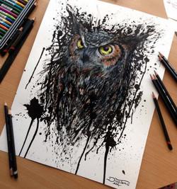 baykuş çizimi