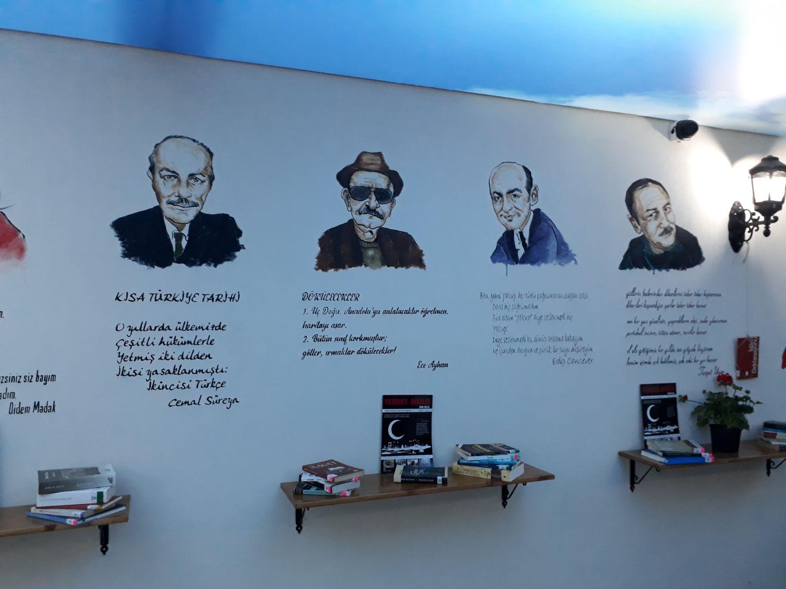 edebiyat tarihi duvar resmi