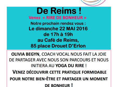 Yoga du rire au Café Happy Lab Reims du 22/05