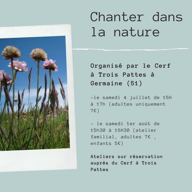 Chanter dans la nature