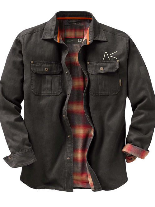 Flannel Lined Work Shirt-Jacket with Brand Logo