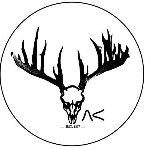 """Ranch Buck Sticker with Brand and Date (3""""x3"""")"""