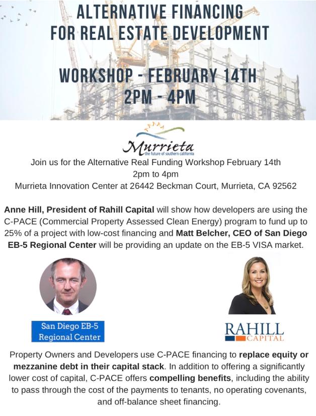 Coming Up: Workshop on Alternative Financing for Real Estate