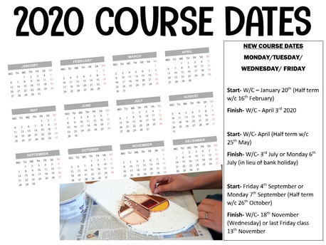 2020 Course dates are live!
