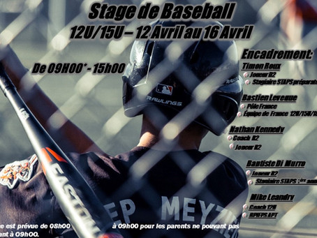Stage Baseball Printemps 2021