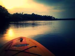 Paddle Board Sunset Reflection