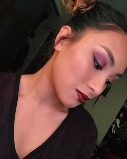 Accidental overload on eyeshadow 😶 💄Lips_ Kylie Lip Kit Leo_Anastasia brow definer_ chocolate_Eyes