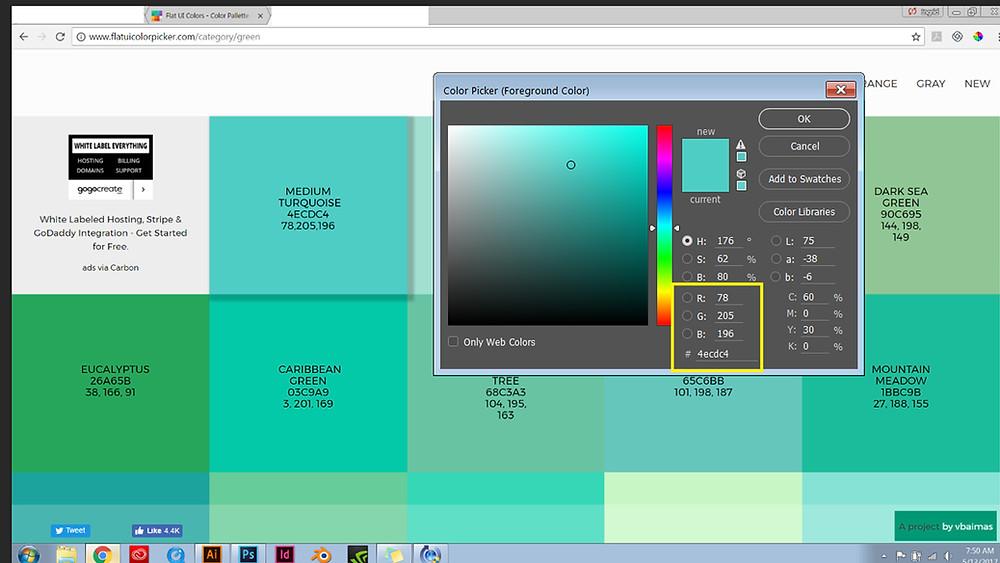 Flat UI Color Picker