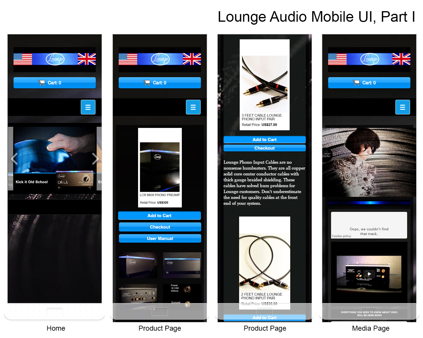 Lounge Audio Mobile Site I