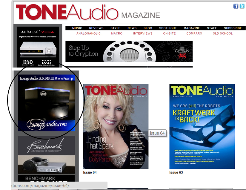 Tone Audio Magazine Ad