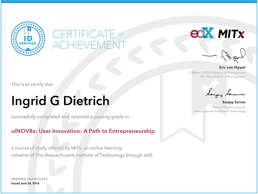 Certificate in User Innovation
