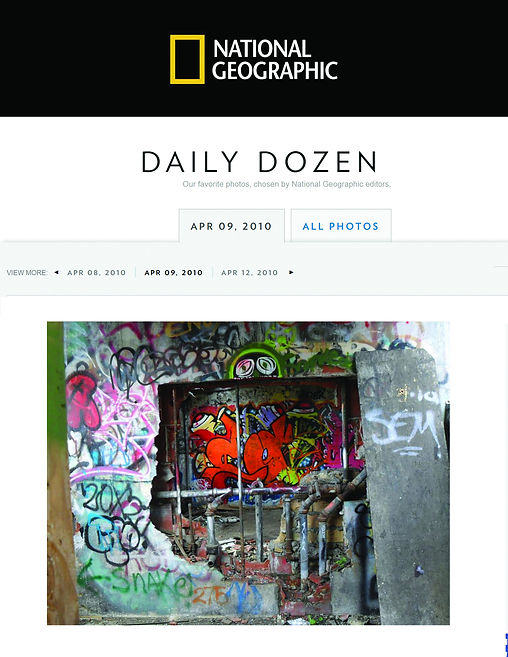 Photo of graffiti by photographer Ingrid Dietrich, published by National Geographic, 2010