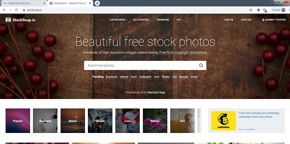 Stocksnap free photography