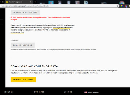 National Geographic #Yourshot Photographers Can Now Download Their Data