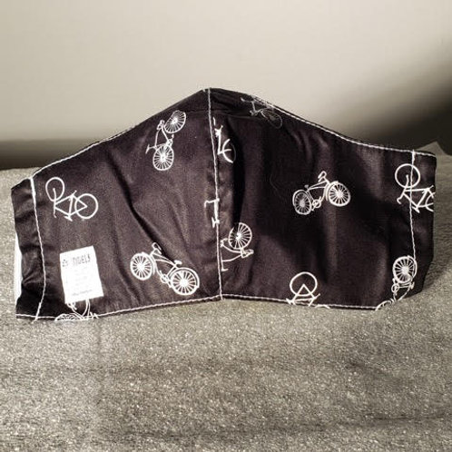 Black with Bicycles. Adult. Elastic