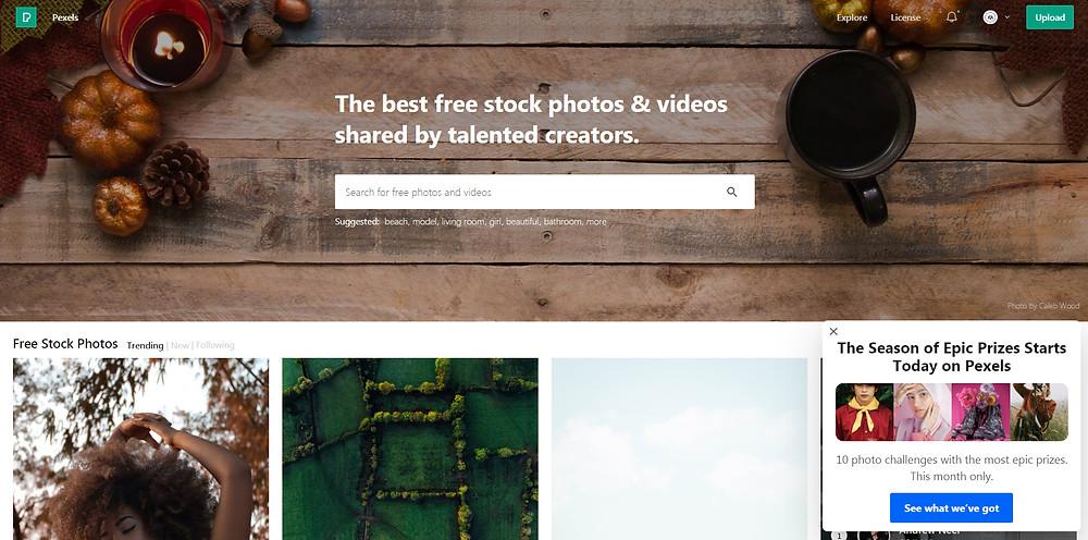 Pexels free photography