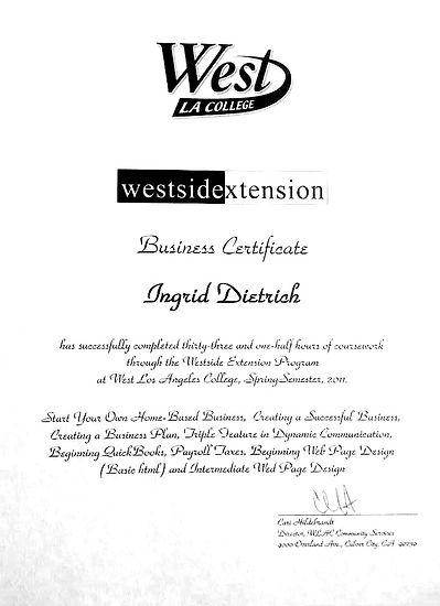 Certificate in Business
