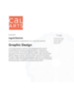 CALARTS Graphic Design Specialization