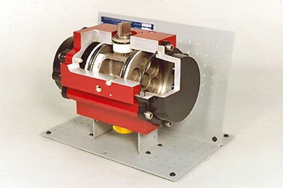 Rack and Pinion Pneumatic Actuator Cutaw