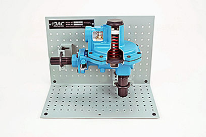Gas Pressure Regulator Cutaway - Process