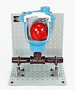 Ball Float Air Vent Valve Cutaway - Hand