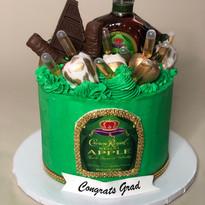 Crown Me Grad Cake