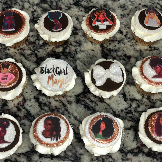 Black Girl Magic Cupcakes