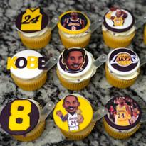 Custom Kobe Cupcakes